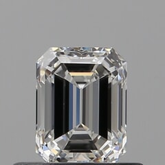 GIA Certified 0.50 Carat E Color VVS2 Clarity Emerald Diamond