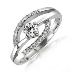 18K Gold and 0.40 Carat E Color VS Clarity Diamond Ring