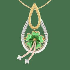 18KT Gold and 0.07 Carat Diamond Pendant