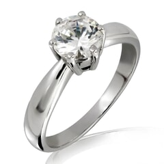 14KT Gold Moissanite Ring with Certificate