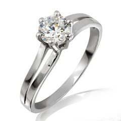 18KT Gold and 0.20 Carat E Color VS2 Clarity Diamond Ring