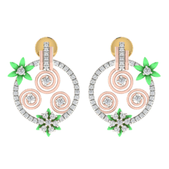 18KT Gold and 0.31 Carat Diamond Earrings