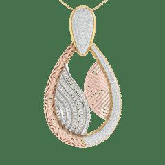 18KT Gold and 0.83 Carat Diamond Pendant