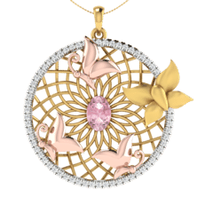 18KT Gold and 0.33 Carat Diamond Pendant