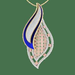 18KT Gold and 0.73 Carat Diamond Pendant