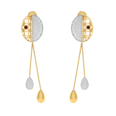 18KT Gold and 0.50 Carat Diamond Earrings