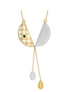 18KT Gold and 0.45 Carat Diamond Pendant