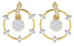 18KT Gold and 0.45 Carat Diamond Earrings