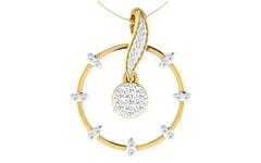 18KT Gold and 0.38 Carat Diamond Pendant