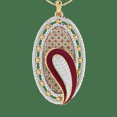 18KT Gold and 0.59 Carat Diamond Pendant