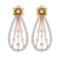18KT Gold and 0.52 Carat Diamond Earrings
