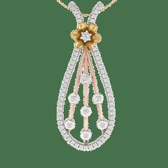18KT Gold and 0.35 Carat Diamond Pendant
