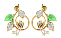 18KT Gold and 0.32 Carat Diamond Earrings