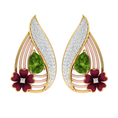 18KT Gold and 0.46 Carat Diamond Earrings