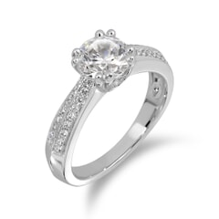 18KT Gold and 0.55 Carat D Color VS1 Clarity GIA Certified Diamond Ring
