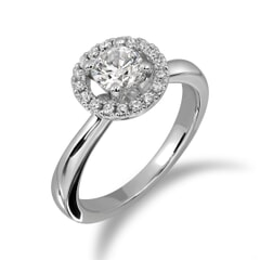 18KT Gold and 0.40 Carat D Color VS1 Clarity GIA Certified Diamond Ring