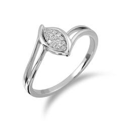 18KT Gold and 0.06 Carat Diamond Promise Ring
