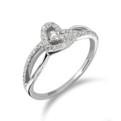 18KT Gold and 0.20 Carat Diamond Promise Ring