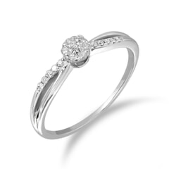 18KT Gold and 0.10 Carat Diamond Promise Ring