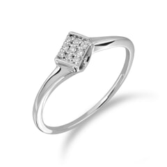 18KT Gold and 0.05 Carat Diamond Promise Ring