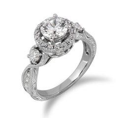 18KT Gold and 0.80 Carat D Color VS1 Clarity GIA Certified Diamond Ring