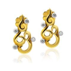 Stud Earrings in 14K Gold and 0.28 carat Diamonds