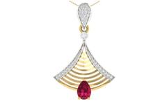 18KT Gold and 0.20 Carat Diamond Pendant