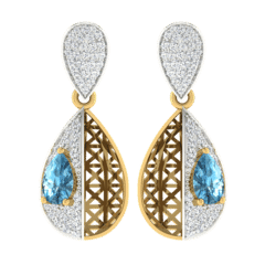 18KT Gold and 0.42 Carat Diamond Earrings