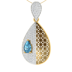18KT Gold and 0.49 Carat Diamond Pendant