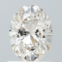 GIA Certified 0.71 Carat I Color IF Clarity Oval Diamond