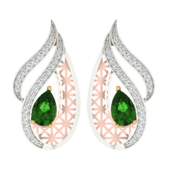 18KT Gold and 0.20 Carat Diamond Earrings