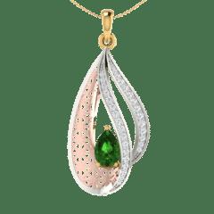 18KT Gold and 0.14 Carat Diamond Pendant