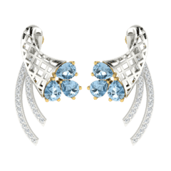 18KT Gold and 0.15 Carat Diamond Earrings