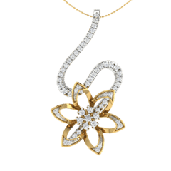 18KT Gold and 0.26 Carat Diamond Pendant