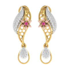 18KT Gold and 0.24 Carat Diamond Earrings