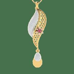 18KT Gold and 0.31 Carat Diamond Pendant