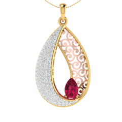 18KT Gold and 0.42 Carat Diamond Pendant