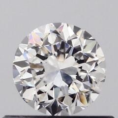 GIA Certified 0.50 Carat F Color VVS2 Clarity Round Diamond