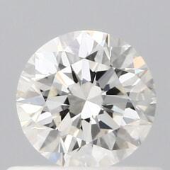 GIA Certified 0.50 Carat H Color VVS1 Clarity Round Diamond