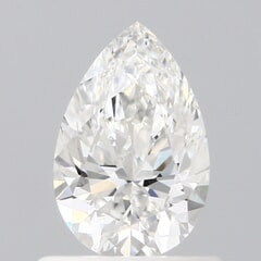 GIA Certified 0.60 Carat D Color VVS1 Clarity Pear Diamond