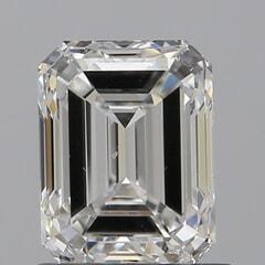 GIA Certified 1.01 Carat F Color VVS2 Clarity Emerald Diamond