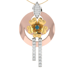 18KT Gold and 0.16 Carat Diamond Pendant