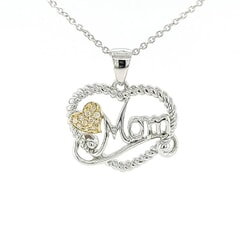 18K Gold Plated Heart Pendant for Mom