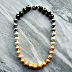 16 Inches Pearl Necklace with Silver clasp