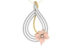 18KT Gold and 0.87 Carat Diamond Pendant