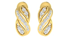 18KT Gold and 0.19 Carat Diamond Earrings