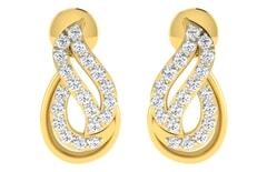 18KT Gold and 0.28 Carat Diamond Earrings