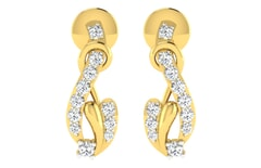 18KT Gold and 0.14 Carat Diamond Earrings