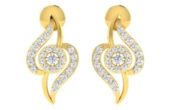 18KT Gold and 0.27 Carat Diamond Earrings
