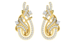 18KT Gold and 0.60 Carat Diamond Earrings